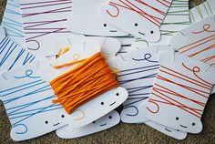 Guardando as linhas de maneira fofa - Para imprimir | Clubinho da Costura
