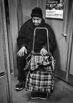 Old man in the Subway