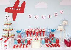 Boy airplane party