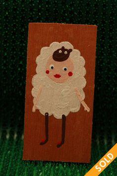 Sheep Wooden Tags, Sheep, Hand Painted, Christmas Ornaments, Holiday Decor, Fall, Home Decor, Xmas Ornaments, Autumn