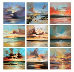 sunset paintings by Scott Naismith