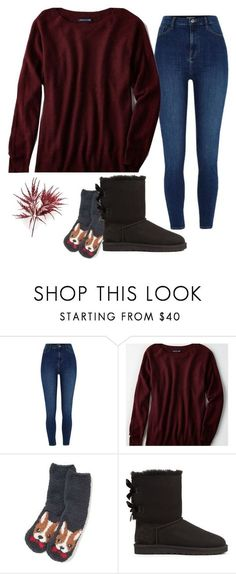 """""""my outfit: Sunday"""" by hannahdowns14 on Polyvore featuring River Island, American Eagle Outfitters and UGG"""