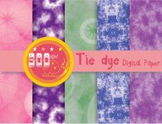 Dip dye digital paper tie dye fabric digital paper, hippy backgrounds and batik style textures Digital Scrapbook Paper, Digital Papers, Hippie Background, Digital Backgrounds, Dip Dye, Hippy, Design Elements, Planners, Scrapbooking