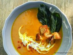 Stare Gary: Ostra zupa dyniowa Thai Red Curry, Pudding, Ethnic Recipes, Desserts, Food, Meal, Custard Pudding, Deserts, Essen
