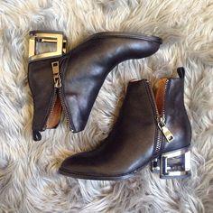Adeline with the @jeffreycampbell Boone Bootie #zippers #booties || Get the boots: http://www.nastygal.com/shoes/jeffrey-campbell-boone-bootie?utm_source=pinterest&utm_medium=smm&utm_term=ngdib&utm_content=omg_shoes&utm_campaign=pinterest_nastygal