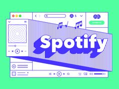 Spotify by Seonhwa Kim Web Design, Media Design, Book Design, Layout Design, Graphic Design Posters, Graphic Design Typography, Graphic Design Inspiration, Branding Design, Cv Website
