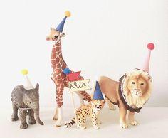 Animal cake topper / Birthday cake topper/ Animal party | Etsy