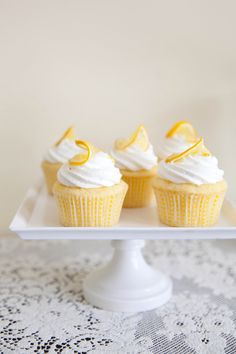 Lemon Ricotta Cupcake Recipe - oh so pretty and perfect for spring!