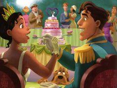 The Princess and the Frog Tiana and Naveen Wallpaper
