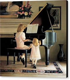 Piano Canvas Print featuring the painting Dress Rehearsal by Greg Olsen The Piano, Piano Art, Grand Piano, Piano Music, Art Music, Piano Room, Music Pics, Greg Olsen Art, Arte Lds