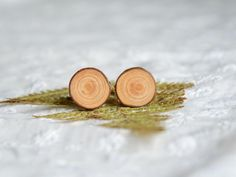 Wooden cuff links anniversary gift for men by MyPieceOfWood