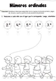 Números ordinales: 5 años - Material de Aprendizaje