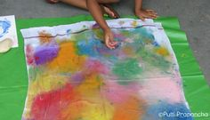 Ice Cube Fabric Painting !! ~ Putti Prapanchakids-activities
