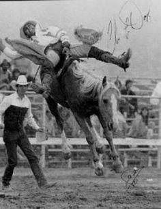 Classic!   Chris LeDoux riding bareback