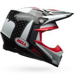 Bell 2017 Moto-9 Flex Vice Black/White Helmet