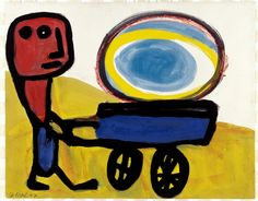 Karel Appel - Little Man with Sun
