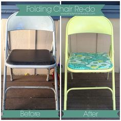 Metal Folding Chair Re-Do | Simply Mrs. Edwards