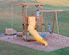 Step by Step How to build an outdoor play struture.