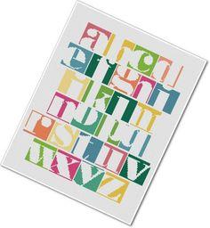 Modern Alphabet Cross-stitch Sampler