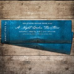 Under The Stars Prom Admission Tickets by Soumya's Invitations