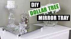 DIY DOLLAR TREE MIRROR RISER TRAY   Z Gallerie Inspired DIY Mirror Vanity Tray   DIY Room Decor - YouTube