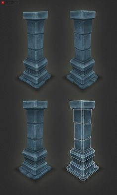 Low Poly Dungeon Pillar