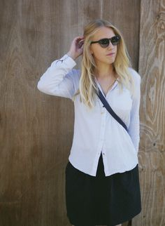 Light blue shirt - second hand style. Sustainable fashion