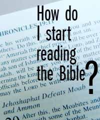 where to start reading in the bible so that everything makes sense and you get a better understanding of the bible and how everything fits together
