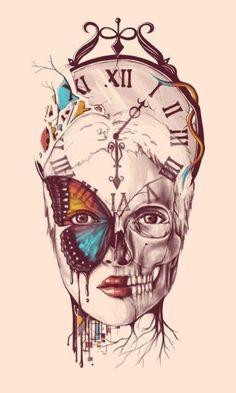 plantilla+reloj+dise%C3%B1o+rostro.jpg (420×700)
