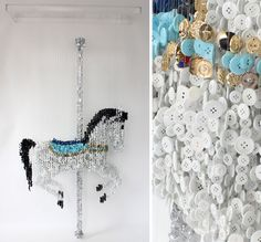 Augusto Esquivel is an artist from Buenos Aires, Argentina. Represented by the Now Contemporary Art Gallery in Miami, Augusto's work involves the use of thousands of carefully place, multi-coloured sewing buttons.