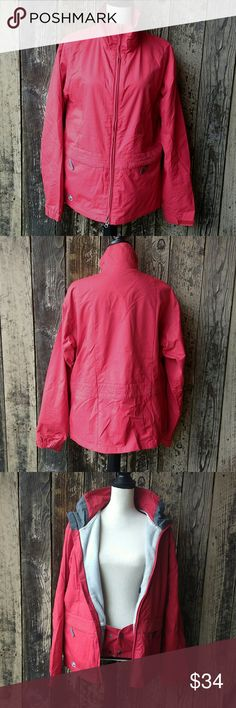 Burton Women's Snowboarding Jacket Size M Super quality, very warm and comfortable, bright red jacket in excellent overall condition! Only flaw is the head to the top zipper broke off but my partner welded a new one that works perfectly, see picture. For this minor flaw this jacket is heavily discounted. Burton Jackets & Coats Utility Jackets