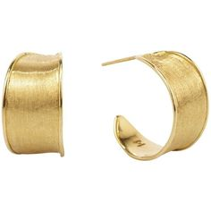 Marco Bicego 18K Yellow Gold Lunaria Hoop Earrings (€1.575) ❤ liked on Polyvore featuring jewelry, earrings, yellow gold earrings, yellow gold jewelry, gold hoop earrings, marco bicego jewelry and 18 karat gold earrings