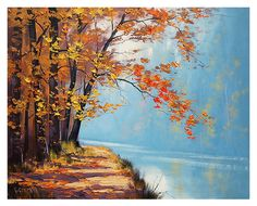 gercken AUTUMN OIL PAINTING commissioned fall by GerckenGallery