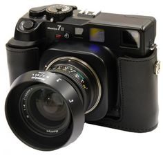 This is a Mamiya 7. It's the only camera I don't own that I really want.    (Except for a Leica M3, a Contax G2, an Exakta, an Olympus 35 RD and a Mamiya Press.)