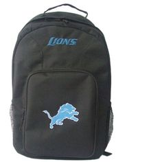 NFL Detroit Lions Southpaw Backpack, Black, Medium by Concept 1. $18.39. The SouthPaw is a great backpack to show off your favorite team, allowing you to carry all your necessary gear to different places like school, the office, the gym, etc.. Save 20%!
