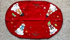 Christmas Snowman, Christmas Themes, Christmas Crafts, Knitted Christmas Stockings, Christmas Knitting, Find Santa, Santa Stocking, Red Design, Red Background