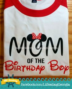Mom of the Birthday Boy Disney Mom Shirt Mickey Mouse by LilSeabag