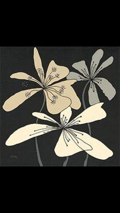 Risultati immagini per quadri fiori stilizzati | Fantasie | Home