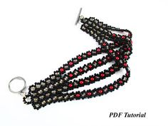 PDF Pattern Bracelet Tutorial DIY Bracelet Seed Bead