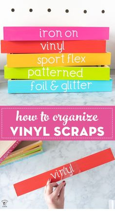 Organize your Vinyl Scraps with this Colorful Craft Room Storage Tutorial : Fun ideas to organize your craft room including these colorful trays designed to store your vinyl scraps. Lots of ideas for how to store vinyl scraps Craft Room Storage, Vinyl Storage, Craft Organization, Office Storage, Organizing Tips, Vinyle Cricut, Diy Love, Cricut Craft Room, Craft Rooms