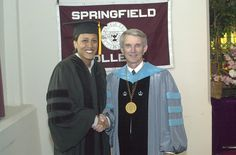Good Morning America's Robin Roberts with President Flynn received an honorary degree from SC in 2003.