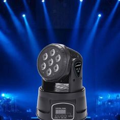 (72.99$)  Watch here - http://aicdn.worlditems.win/all/product.php?id=L1266B-EU - Lixada 7LED 105W RGBW 9/14 Channel DMX512 Mini Rotating Head Moving Stage Light Effect Lamp for Indoor Disco KTV Club Party