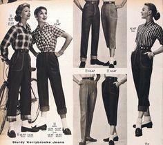 Nos anos 1930, as calças se tornaram populares entre as estrelas de Hollywood