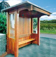 Hassocks wooden bus shelter