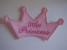 iron on applique patch Little princess by EmbellishmentJunkies, $2.75