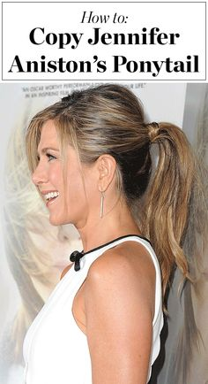 Jennifer Aniston's best friend/hairstylist Chris McMillan shows us exactly how to copy her classic red carpet ponytail