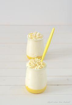 ¡Qué cosa tan dulce!: Mousse de chocolate blanco con crema de mandarina