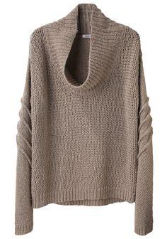 HELMUT LANG   Cowl Neck Pullover   Shop @ La Garçonne