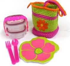 Back to School – Lunch Bags to Crochet – 11 free patterns – Grandmother's Pattern Book