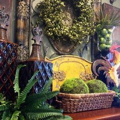 Strive for a tuscan vignette with Tuscan decor :Tuscan Decor